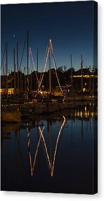 Holiday Boats Canvas Print