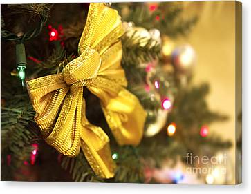 Holiday Bow Canvas Print by Thanh Tran