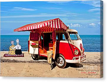 Holiday By The Seaside Canvas Print