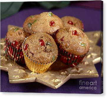 Holiday Candies Fruit Muffins Canvas Print by Iris Richardson