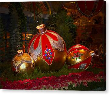 Holiday Decorations Canvas Print by Lucinda Walter