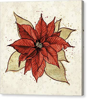 Christmas Flower Canvas Print - Holiday Gem IIi by Janelle Penner
