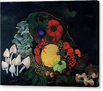 Holiday Harvest Canvas Print by D L Gerring