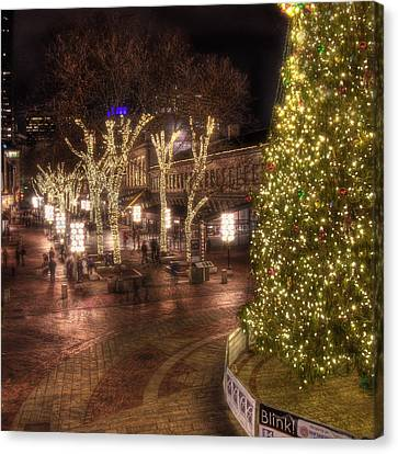 Holiday In Quincy Market Canvas Print