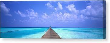 Holiday Island Maldives Canvas Print