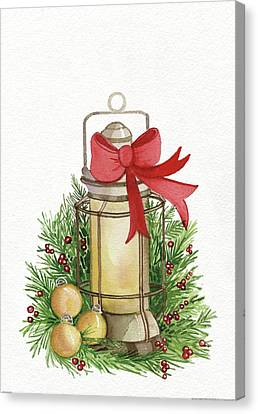 Holiday Lantern II Canvas Print by Kathleen Parr Mckenna
