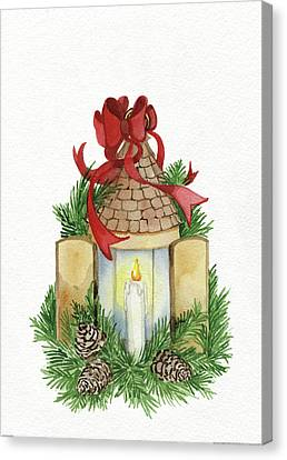 Holiday Lantern Iv Canvas Print by Kathleen Parr Mckenna