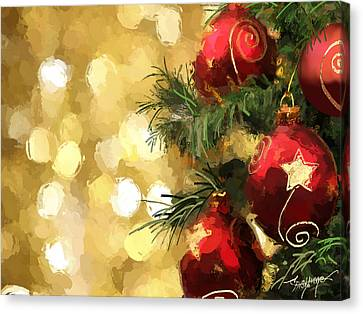 Holiday Ornaments Canvas Print by Anthony Fishburne