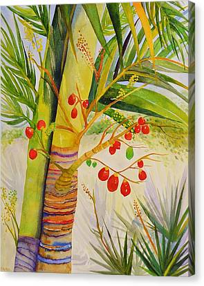 Holiday Palm Canvas Print