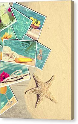 Holiday Postcards Canvas Print by Amanda Elwell