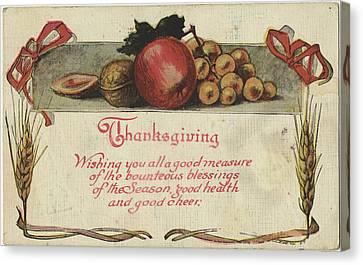 Apple Canvas Print - Holiday Postcards Vi by Wild Apple Portfolio