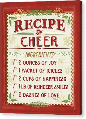 Holiday Recipe I Canvas Print by Pela Studio