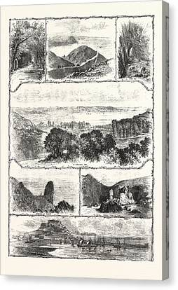 Holiday Resorts Jersey Engraving 1876 Canvas Print by English School
