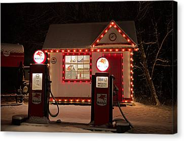 Holiday Service Station Canvas Print by Susan  McMenamin