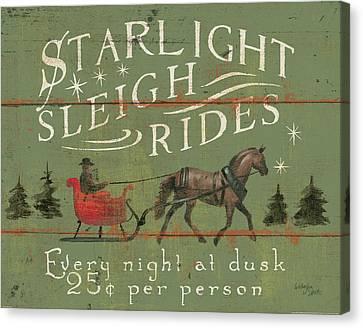 Christmas Tree Canvas Print - Holiday Signs II by Wellington Studio