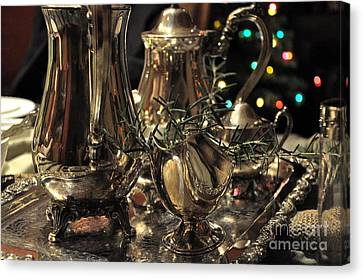 Holiday Silver  2 Canvas Print by Tanya  Searcy