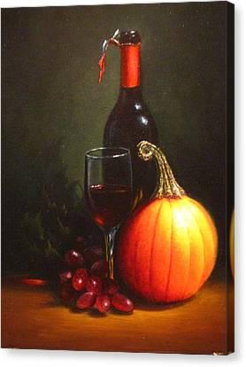 Holiday Wine Canvas Print