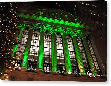Canvas Print featuring the photograph Holidays At Ny Stock Exchange by Robert  Moss