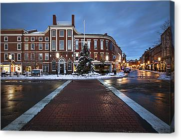 Holidays In Portsmouth Canvas Print