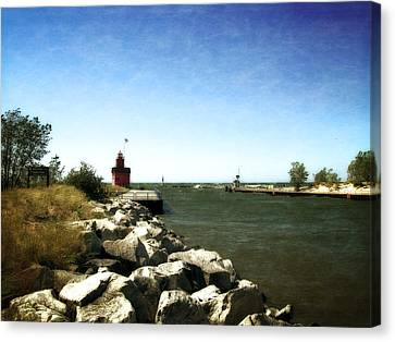 Holland Channel And Big Red Canvas Print by Michelle Calkins