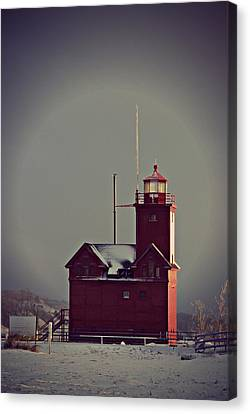 Holland Lighthouse Canvas Print by Dawdy Imagery