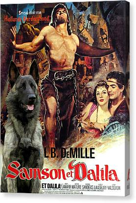 Hollandse Herdershond - Dutch Shepherd Art Canvas Print - Samson And Delilah Movie Poster Canvas Print
