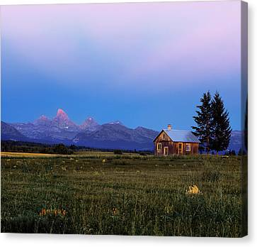 Old Cabins Canvas Print - Hollingshead Ranch by Leland D Howard
