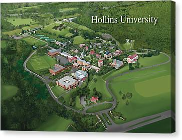Hollins University Canvas Print by Rhett and Sherry  Erb