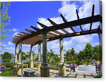 Hollis Pergola Canvas Print by Laurie Perry