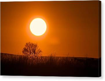 Hollister Idaho Spring Sunset Canvas Print