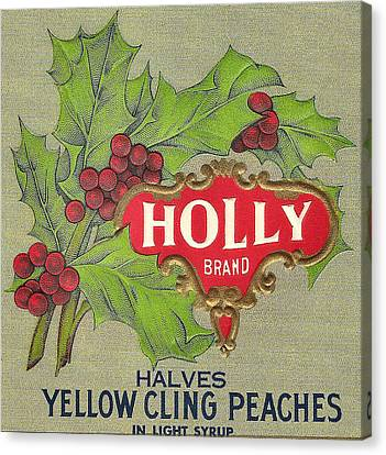 Holly Brand Yellow Cling Peaches Canvas Print by Studio Art