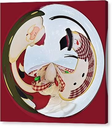 Holly Jolly Orb Canvas Print by Kim Hojnacki