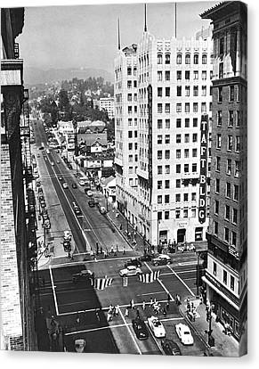 Taft Canvas Print - Hollywood And Vine In La by Underwood Archives