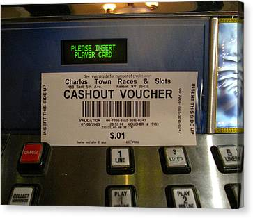 Bet Canvas Print - Hollywood Casino At Charles Town Races - 12126 by DC Photographer