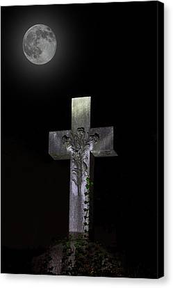 Hollywood Cemetery Full Moon Canvas Print by Jemmy Archer