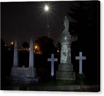 Hollywood Cemetery Moon Burst Canvas Print by Jemmy Archer
