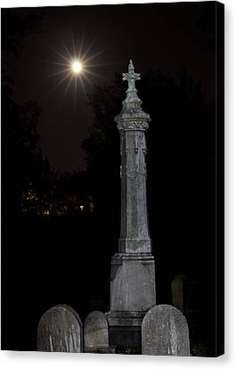 Hollywood Cemetery Moon Rise Canvas Print by Jemmy Archer