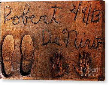 Hollywood Chinese Theatre Robert De Niro 5d29011 Canvas Print by Wingsdomain Art and Photography