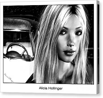 1960 Canvas Print - Hollywood Confidential by Alicia Hollinger