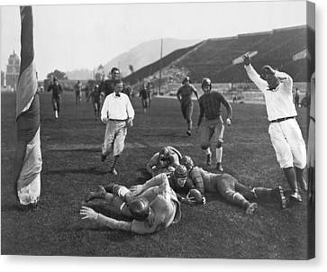 Hollywood Football Touchdown Canvas Print by Underwood Archives