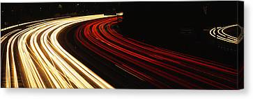 Hollywood Freeway At Night Ca Canvas Print