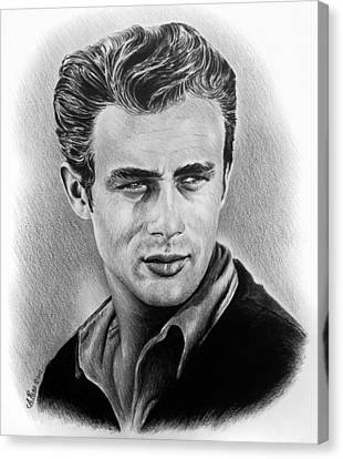 Hollywood Greats James Dean Canvas Print by Andrew Read