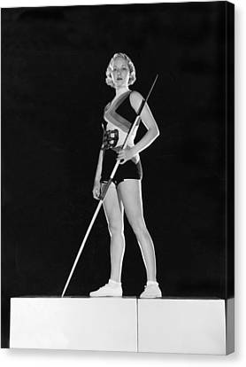 Javelin Canvas Print - Hollywood Javelin Thrower by Clarence Sinclair Bull