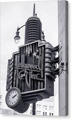 Hollywood Landmarks - Hollywood And Vine Sign Canvas Print by Art Block Collections
