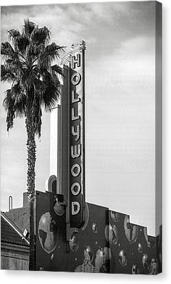 Hollywood Landmarks - Hollywood Theater Canvas Print by Art Block Collections