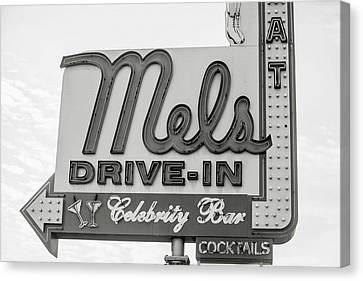 Hollywood Landmarks - Mel's Drive-in Canvas Print by Art Block Collections