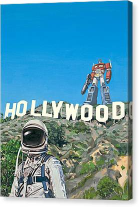 Canvas Print featuring the painting Hollywood Prime by Scott Listfield
