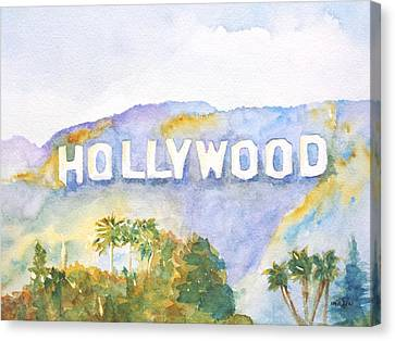 Hollywood Sign California Canvas Print by Carlin Blahnik