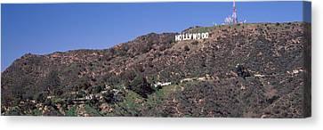 Hollywood Sign On A Hill, Hollywood Canvas Print