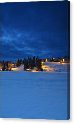 Holmenkollen Blue Canvas Print by Aaron Bedell